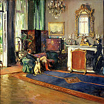 Sir John Lavery - The Last British Minister, the Drawing Room, British Legation Tangiers