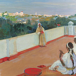 Sir John Lavery - Evening on the House Top, Tangier