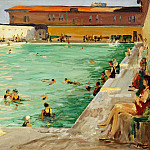 Sir John Lavery - The Peoples Pool, Palm Beach