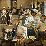 Sir John Lavery - The First Wounded, London Hospital, 1914