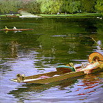 Sir John Lavery - Boating Scene at Maidenhead
