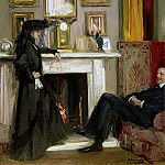 Sir John Lavery - The Grey Drawing Room, Tangiers