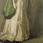 Sir John Lavery - Lady in a Green Coat