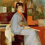 Sir John Lavery - Woman in Japanese Dress