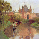 Sir John Lavery - Kelvingrove, View from the River