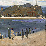 Sir John Lavery - The Bathing Pool, North Berwick