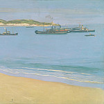 Sir John Lavery - The Harbour at St. Jean de Luz - Early Morning