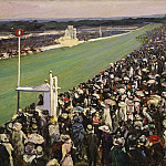Sir John Lavery - The Gold Cup, Ascot, the Royal Enclosure