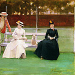 Sir John Lavery - The Tennis Match