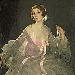 Sir John Lavery - Hazel in Rose and Grey
