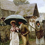 A Wet Sunday Morning, Edmund Blair Leighton
