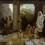 The blind man at the Pool of Siloam, Edmund Blair Leighton