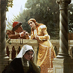 A Stolen Interview, Edmund Blair Leighton