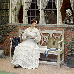 The latest news, Edmund Blair Leighton