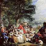 Charles-André van Loo - The Hunt Lunch
