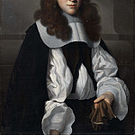 Portrait of a youth with gloves