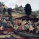 Filippino Lippi - Moses brings forth Water out of the Rock