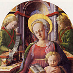 Filippino Lippi - Madonna and Child enthroned with two Angels