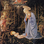Filippino Lippi - The adoration with the infant Baptist and St. Bernard