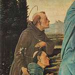 Filippino Lippi - Madonna with Child St Anthony of Padua and a Friar before 1480 detail