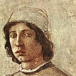 Filippino Lippi - Self Portrait detail
