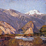 Paul Cezanne - Landscape in Valais
