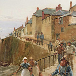 Walter Langley - The Quayside, Newlyn