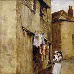 Walter Langley - A Street in Newlyn
