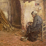 Walter Langley - Old Woman Peeling Potatoes