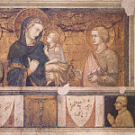 Pietro Lorenzetti - Madonna With St Francis And St John The Evangelist