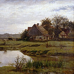 Julius Schrader - Farm by the stream in Etzenhausen