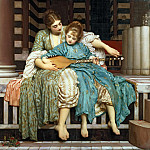 Music lesson, Frederick Leighton