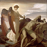 Elijah in the Wilderness, Frederick Leighton