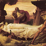 Frederick Leighton - Hercules Wrestling with Death for the Body of Alcestis