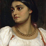 The Head Of A Girl, Frederick Leighton