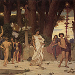 Frederick Leighton - The Daphnephoria (detail)