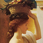 Frederick Leighton - A Girl with a Basket of Fruit