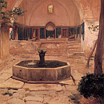 Frederick Leighton - Courtyard of a Mosque at Broussa