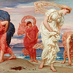 Greek girls picking up pebbles, Frederick Leighton