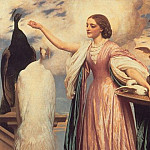 A_Girl_Feeding_Peacocks, Frederick Leighton