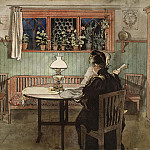 Carl Larsson - When the Children have Gone to Bed. From A Home