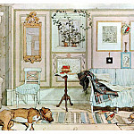 Carl Larsson - 1894-97 Lazy Nook watercolor
