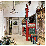 Carl Larsson - 1894-97 The Other half of the Studio watercolor