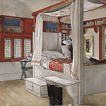 Carl Larsson - Daddy's Room. From A Home