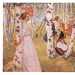 Carl Larsson - 1910-13 Breakfst in the Open oil