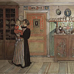 Carl Larsson - Between Christmas and New Year. From A Home
