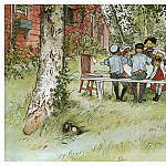 Carl Larsson - 1894-97 Breakfast under the Big Birch watercolor