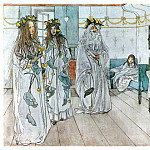 Carl Larsson - 1899 For Karins name-day 1899 watercolor