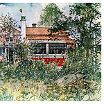 Carl Larsson - 1894-97 The cottage watercolor