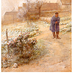 Carl Larsson - Noviembre(La escarcha) watercolor 1882